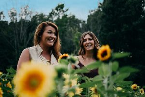 bookabin-women-sunflowers-garden-australia
