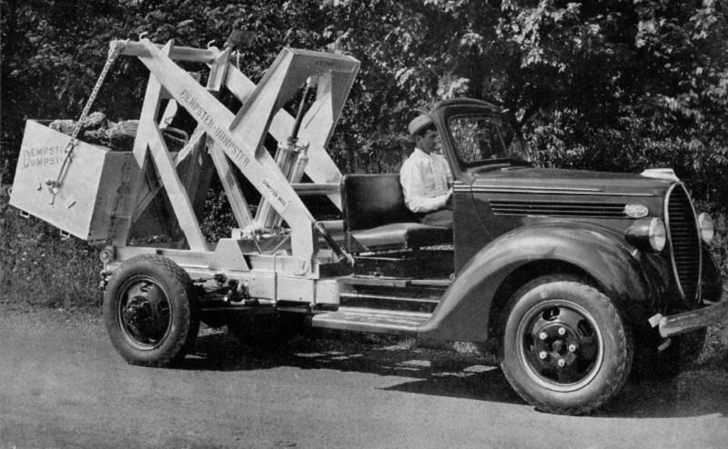 Vintage skip bin truck